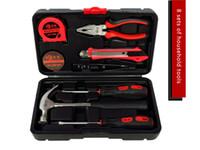 Wholesale Hand Crimping Machines - Hi-tech 8 Pcs Homeowner's Tool Kit General Household Hand Tools Set Home hardware screwdriver multi tools