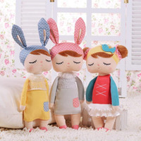 13 Inch Angela Rabbit Girl Metoo Doll Plush Sweet Cute Lovely Stuffed Baby Kids Brinquedos para meninas Birthday Christmas Gift KKA2665