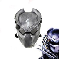 Wholesale Alien Cosplay - Alien Vs Predator Lonely Wolf Mask With Lamp Outdoor Wargame Tactical Masks Full Face Cs Mask Halloween Party Cosplay Horror Mask