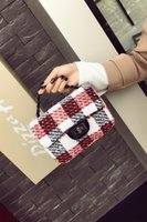 Wholesale Tartan Plaid China - Fashion Decorated Mini Flap Bags Suede china style Small Women Shoulder Bag Chain Messenger Bag Autumn New Arrival