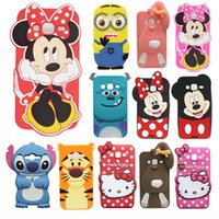 Wholesale S4 Case 3d - New 3D Cute Cartoon Cases Soft Silicone Rubber phone Case For iPhone 7 5 6 6s plus Samsung Note7 S4 S5 S6 S7