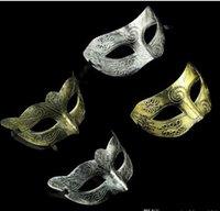 gladyatörler maskeleri toptan satış-Mardi Gras için 2017 Retro Greco-Roma Mens Maske Masquerade ve Gladyatör masquerade Vintage Altın / Gümüş Maske gümüş Karnaval Cadılar Bayramı