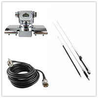 Wholesale Clip Car Antenna - Wholesale- Quad band Antenna Set for Mobile Radio with Clip Mount +Huahong HH-9000 Antenn +4M Cable For Car Radio TYT TH-9800 QYT KT7900D