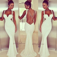 Wholesale Strapless Cotton Long Maxi Dress - Black And White Sexy Strapless Trumpet Dress Backless Long Dress For Ladies Party Evening Dress Free Shipping