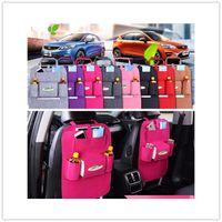 Wholesale Hanging Pockets - Felt Multifunction Hanging Organizer Car Sundries Holder Multi-Pocket Travel Storage Bag Hanger Backseat Organizing Box 8 colors