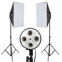 equipo fotográfico al por mayor-Photo Studio Softbox Kit Photo Equipment de 2PCS 50x70 Softbox Light Stand para cámara Photo Studio Difusor BA350