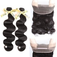 Wholesale Quality Remy Hair - 8A Grade 360 Lace Frontal with Peruvian Body Wave Hair 2 Bundles 200g with Baby 360 Full Lace Frontal 22x4x2 HCDIVA GOOD QUALITY Remy Hair