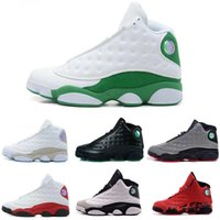Wholesale Hologram Bands - [With Box]Cheap Famous Trainers Air Retro 13 XIII Retro 13s Hologram Men's Sports Basketball Shoes Barons (white black grey teal) US 8-13
