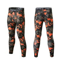 Wholesale-New Mens Skin Camuflagem Calças de compressão Outdoor Tights Running Camo Quick Dry Base Camada Fitness Jogging Sport Training Pants