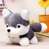 Wholesale cute huskies - Super Cute!!New Arrival 20cm Husky Plush Toy Simulation Dog Baby Sleeping Appease Doll Kids Birthday Gifts