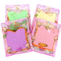 Wholesale Bread Toast Squishy Charm - 2017 New 14cm Squishy Super Jumbo Slow Rising Colorful Bread Toast Kawaii Phone Strap Kid Toy Gift Soft Decorations Collectibles