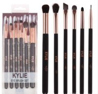 Wholesale Eye Lining - 6pcs Kylie Makeup Eye Brush Set eyeshadow line brow Makeup brushes kit Tools with retail package DHL Free
