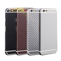 Wholesale Matte Carbon Fiber Sticker - Luxury Carbon Fiber style Full Body stickers Protective Matte Skin Screen Protector for iphoneX Iphone8 7plus 6 6s plus 5S Decal