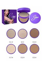New Arrival Selena Double Cake Face Cake Powder 20G 3 Couleurs Studio Fix Blanchiment Pressé Fondation Poudre Facile Maquillage de Visage DHL Gratuit