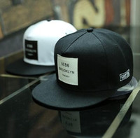 Wholesale Hop Shops - 2017 New Men Womens BROOKLYN Letters Solid Color Patch Baseball Cap Hip Hop Caps Leather Sun Hat Snapback Hats free shopping 32736317487