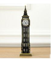 Wholesale British Money - Furnishing articles types: Desktop furnishing large British tourist souvenirs London landmark Big Ben classic decoration model alloy core