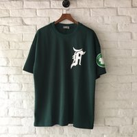 Wholesale Material Hips - Patch on Sleeve Jersey Material Oversized Hip Hop T-shirt Short Sleeve Fear of God Tshirt Men Sport Style Men's Tee Shirts 003