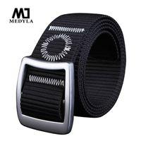 Wholesale High Quality Cummerbund - 2017 Pin Buckle Nylon Belt Male Army Tactical Belt Mens Military Waist Canvas Belts Cummerbunds High Quality Strap Waistband