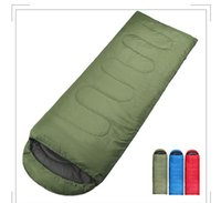Wholesale Synthetic For Bag - High Quality Outdoor Camping Sleeping Bag for Spring & Autumn Adult Children Envelope Hooded Cotton Sleep Bag low price on sale
