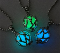 Wholesale Rope Magic - Hot Fashion Unisex's Men Magic Fairy Glow In The Dark Football Locket Pendant Necklace Jewelry