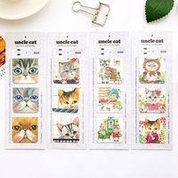Wholesale Metal Cat Bookmark Wholesale - 24 Set Lot Kawaii Cat Familly Magnetic Book Mark Cute Kitties Bookmark Stationery Office School Supplies Marcador De Livro