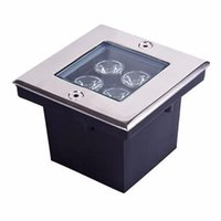 Wholesale Dc 12v Buried - 4W LED underground light square LED buried lights IP65 Outdoor light waterproof dc 12v underground lighting AC85-265V