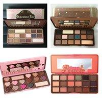 Wholesale Eye Nake - Too Hot Sale 5 Styles Nake Face Beauty Makeup EyeShadow Palettes Chocolate Bar 1234 Glitter Matte Eye shadow