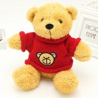 Wholesale Wholesale Wedding Teddy Bears - sweater teddy bear doll hug bear dolls plush toys bear pillow doll wedding gift free shipping