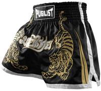 thailändische waren großhandel-Qualitätsware-Tiger PUGILIST MMA Short HYBRID KICKBOXEN MUAY THAI SHORTS KAMPF SHORTS Muay Thai Boxing Shorts-Schwarz