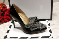 Wholesale Pumps Glitter Womens - Glitter Rhinestone Womens Dress Shoes Stiletto heels Pointy toe Ladies Wedding Party Shoes Feminino