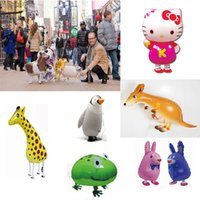 Wholesale Advertising Dog - Walking Balloons Foil Material Animal Pet Balloon Cow Cat Duck Dog Horse Deer Dinosaur Birthday Balloons Christmas Balloon C162Q