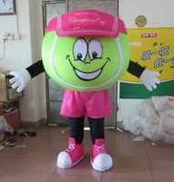 Wholesale Tennis Ball Costumes - High Quality Tennis Prince Ball Mascot Costume Fancy Party Dress Halloween Costumes Adult Size free shipping