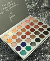 Wholesale Matte Color Eyeshadow Palette - (in stock) HOT 2017 new makeup THE JACLYN HILL x 35 color eyeshadow palette ! dhl Free shipping