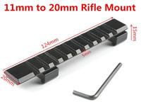 adaptador para trilhos picatinny venda por atacado-Tecelão Picatinny 11 a 20mm Adaptador de Escopo Rifle Rail Mount Crossbow Airgun Pistol Airsoft Caça