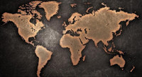 pintura a óleo do mapa mundial venda por atacado-1PC World Map pintado à mão moda casa Modern Painting Decor Wall Art Oil enorme no arco da lona