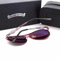 Wholesale Vintage Silver Star - Famous designer Star Metal Brand Polarized glasses Brand Designer 2017 hot sale Vintage Sunglasses for free shipping