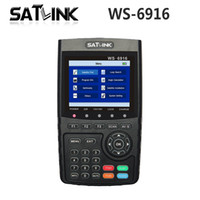 Wholesale Tft Finder - [Genuine] Satlink WS-6916 HD DVB-S2 High Definition Satellite Finder Satellite meter MPEG-2 MPEG-4 Satlink WS6916 6916 3.5 inch TFT