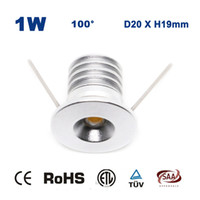 Wholesale 12 led downlight - Wholesale- 12 X 1W DC 12V 15mm 100Lm 80Ra COB 1 Watt Led Bulb Downlight Led Garden Lamp Party Beautiful Star Night Light CE RoHS