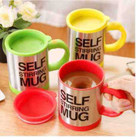 Wholesale Automatic Coffee Mixing Cup - 400Ml Mug Automatic Electric Lazy Self Stirring Mug Automatic Coffee Cup Milk Mixing Self Stirring Coffee Cup Stainless Steel