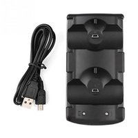 Wholesale Move Power Charger - WholesaleDual Chargers USB Dual Charging Powered Dock Charger for PlayStation 3 for Sony for PS3 Controller Move Navigation
