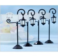 Wholesale Street light Place Card Holders Wedding decoration Wedding name holder frame