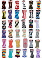 Wholesale Arm Warmers Cotton - 6Pairs Retail Price Baby Chevron Leg Warmer Children Christmas infant leggings Tights Halloween Pumpkin Skull Leg Warmers Adult Arm warmers