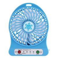 Wholesale Ion Fan - Wholesale- Portable Mini USB Fan 3.7V Li-ion 2200mAh Battery Rechargeable Multifunctional 3 Gear Speed 4.5W Super Strong Wind Cooling Fan