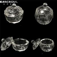 Wholesale Bowl Cup Acrylic Liquid Dappen - Wholesale- 1PCS Nail Tools Crystal Glass Dappen Dish Bowl Cup Nails Art Acrylic Liquid Makeup Powder Glitter Beauty Manicure Styling Tool