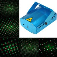 Atacado-Discoteca Light ativado por voz LED bulbo Toda a música strat Laser Stage Lights Ajuste de iluminação DJ Party Home Wedding Club Projector