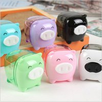 Atacado-1 PC / papelaria Coréia cute cartoon mini Pig piggy sharpener Q Edition