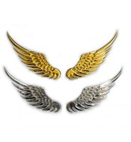 Wholesale Eagles Car Stickers - The wings of an angel Auto supplies car wrap Pure metal stereoscopic 3 d sticker car eagle wings
