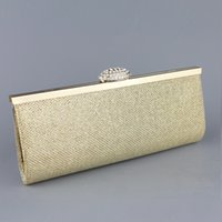 Wholesale Silver Clutch Bags For Prom - New Upscale Ladies Evening Bags Fashion Crystal Women Clutches with Scrub Grid for Wedding Prom Party Bag Silver Gold C1