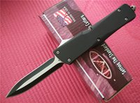 Wholesale Christmas Gifts Sets - MICROTECH Troodon A16 double fine blade 58HRC 440 blade Zinc alloy handle tactical camping utility hiking knives Christmas gift