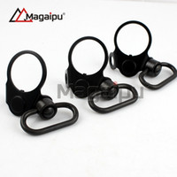 Wholesale Push Button Plates - Magaipu Dual Side Full Steel End Plate Ambidextrous QD Sling Mount Adapter Attachment Push Button For Airsoft